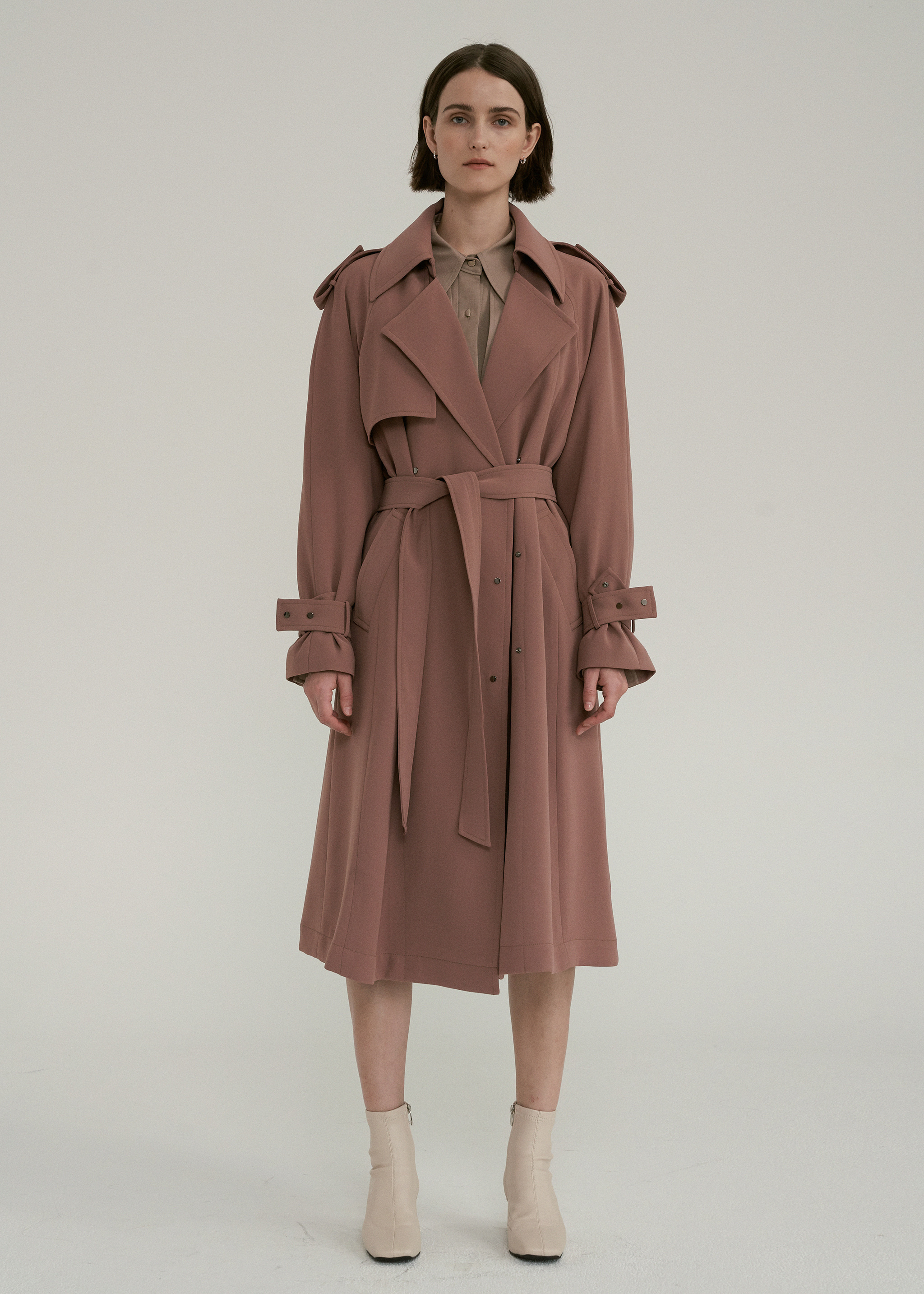 OVERSIZED RAGLAN TRENCH COAT (LIGHT CAMEL)