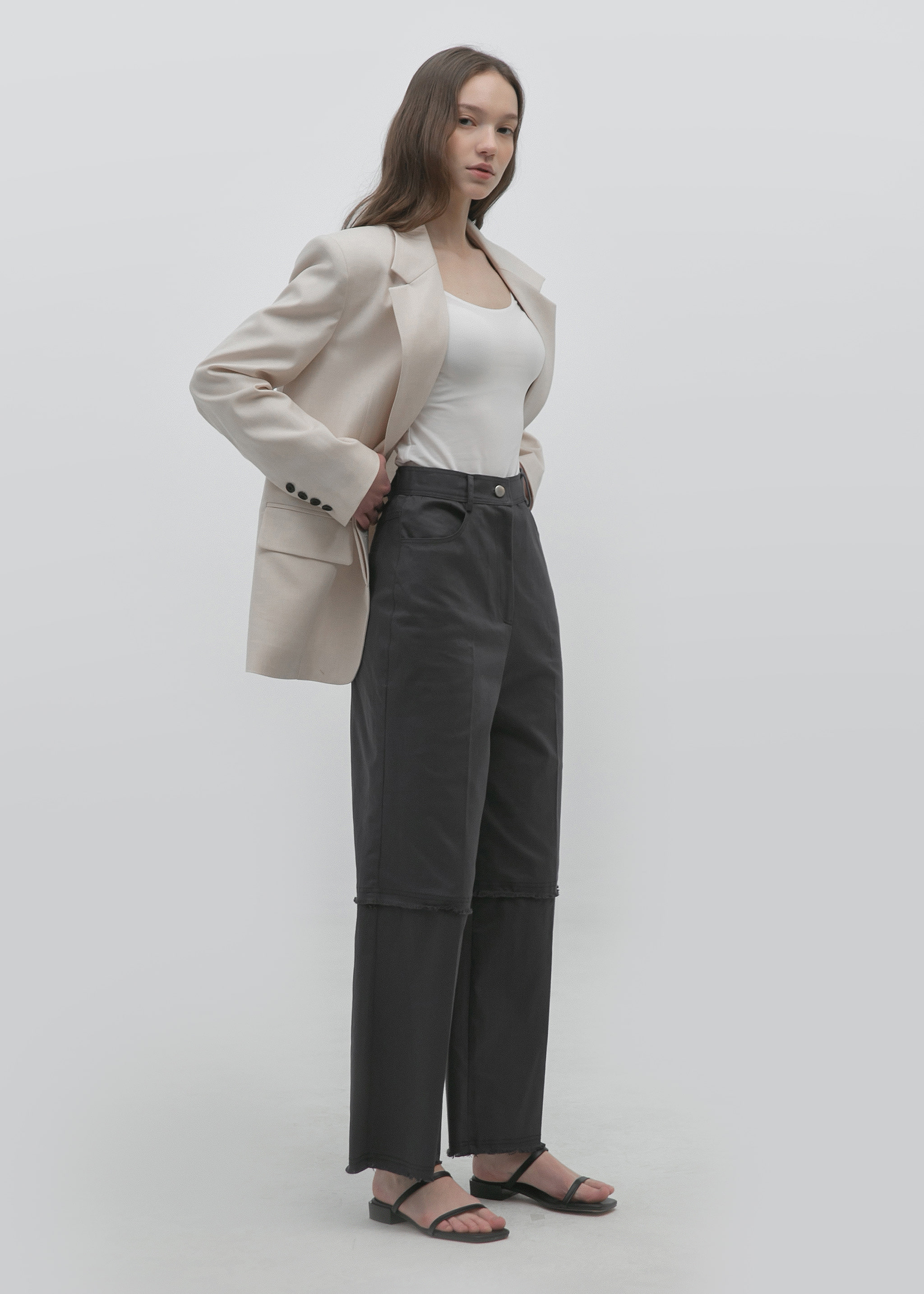 CLASSIC COTTON PANTS (CHARCOAL)